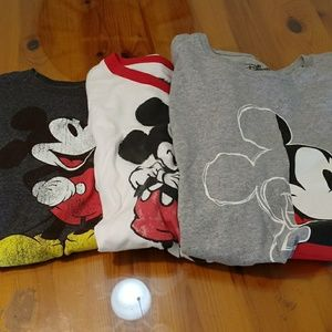3 Disney t- shirts size M